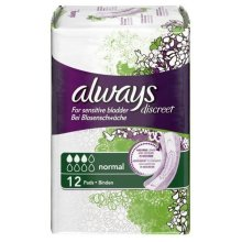 Always Discreet Sensitive Bladder Incontinence Pads Normal Odour Lock Pack of 12