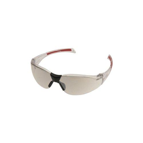 Stealth 8000 Glasses - Clear Frame - Silver Indoor/Outdoor Hardcoat Lens