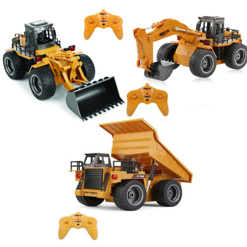 6 Channel 1:18 Die Cast RC  Bulldozer Dump Truck or Excavator