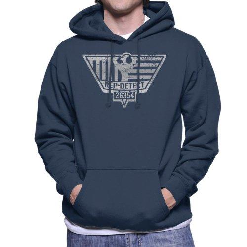 Blade Runner Inspired Rep Detect Logo Men's Hooded Sweatshirt