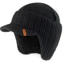 Scruffs Peaked Beanie | Black Workwear Hat