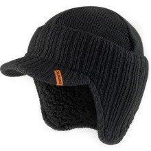 Scruffs Peaked Beanie | Black Workwear Hat