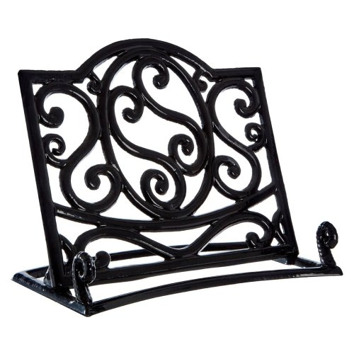 Cast Iron Cookbook Stand, Black