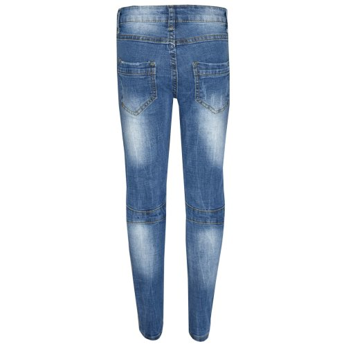 Kids Boys Skinny Jeans Denim Ripped Stretchy Pants Trousers New Age 3-13 Years