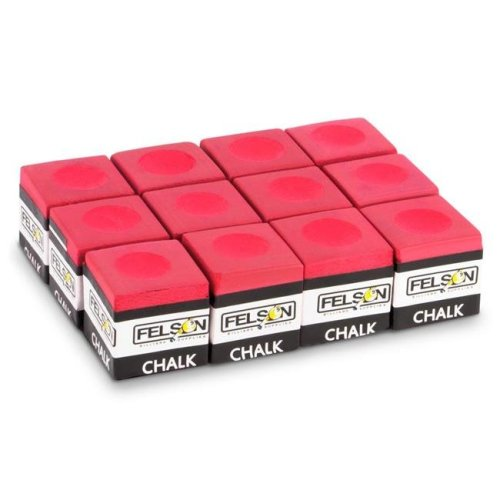 Pool Cue Chalk, Red - Pack of 12