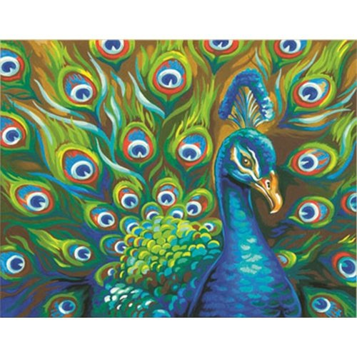 "Dpw91477 - Paintsworks Paint by Numbers 14"" X 11"" - Wild Feathers"