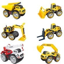 Truck with Light and Sound Features – Interactive Push Wheeled Excavator Toy