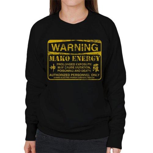 Warning Mako Energy Final Fantasy VII Women's Sweatshirt