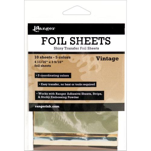 10pc Inkssentials Foil Sheets - Vintage