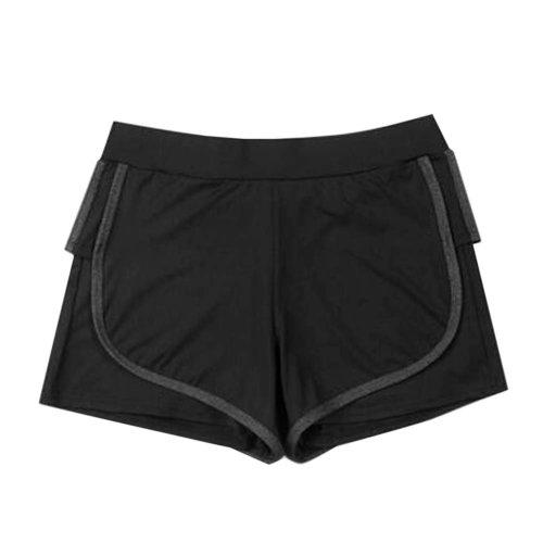 Women's Hot Elastic Waist Gym Pants Active Wear Lounge Shorts,#A 1