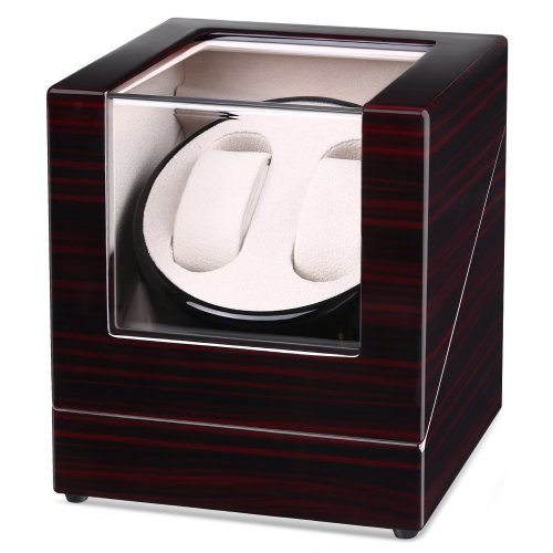 INTEY Double Automatic Watch Winder with Quiet Motor and Wood Shell