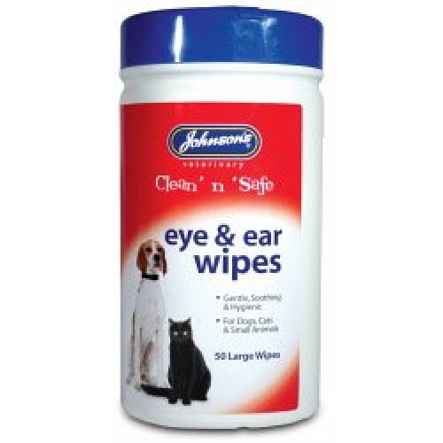 Eye & Ear Cleaning Wipes For Cats - Johnsons Safe Clean Dogs -  wipes ear eye johnsons safe clean dogs cats