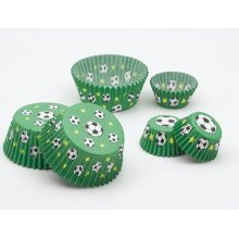Football Cake Cups Small 3 x 2cm 100