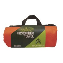 Outgo Ultra-Compact Microfiber Towel, Terra Cotta Red, Extra Large