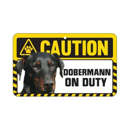 Dobermann Caution Sign