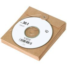 TRIXES Pack of 10 Brown Cardboard CD Envelope Pouches