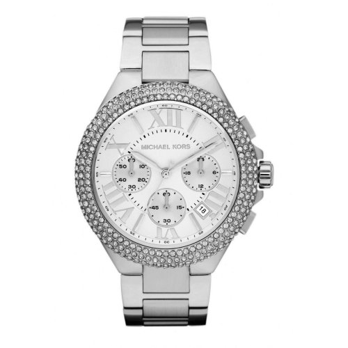 bbbb73a93811 Michael Kors Ladies Camille Chronograph Watch Stainless Steel Silver Dial  MK5634 on OnBuy