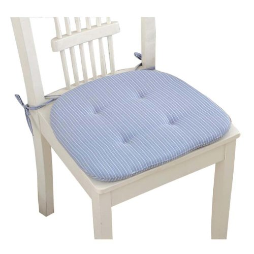 Pure color Square Chair Pad Beautiful and Practical Chair Cushion, Blue