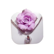 [PURPLE ROSE Necklace] Special DIY Contact Lenses Box Case/Holders Container