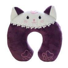 Kids Adults Cute Neck Pillow Neck Support U-Shape Pillows Detachable, Purple