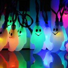 20-LED Light Halloween Ghost Solar Energy String Light