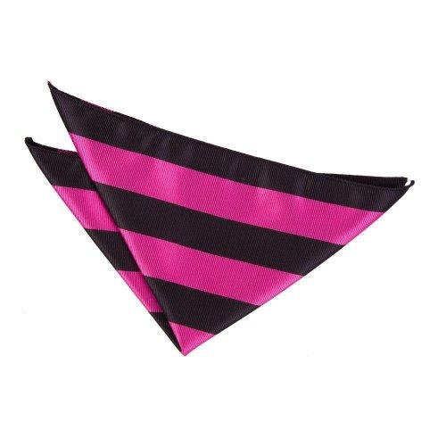 Hot Pink & Black Striped Pocket Square