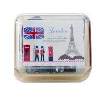 Mini Clockwork Music Box British Style Music Box Height Approx 1.5 Inch #1