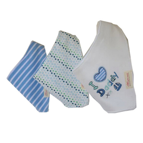 Lovely Feeding Bandana Bibs for Babies and Toddlers Set of 3( I love daddy)