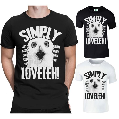 Simply Loveleh Men's T-Shirt | Funny 'Lovely' Owl T-Shirt