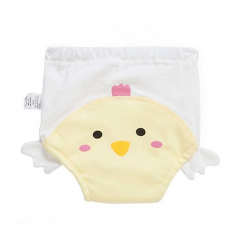 2 PCS Soft and Comfortable Cotton Material Baby Diapers Training Pants