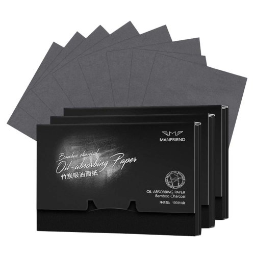 300 Sheets Bamboo Charcoal Facial Oil Control Absorption Film Tissue Blotting Paper