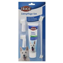 Trixie 2561 Dental Care Kit, Dog - Mint Toothpaste Toothbrush Finger -  dog dental care trixie 2561 mint toothpaste toothbrush finger