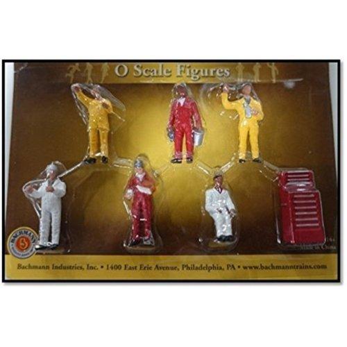 Bachmann Industries Miniature HO Scale Figures Mechanics Train (6 Piece)