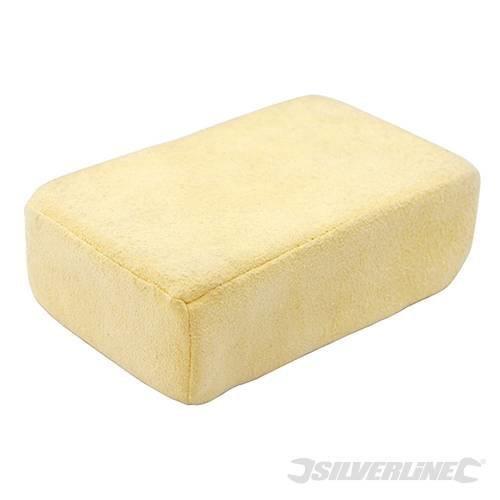 Silverline Chamois De-misting Block 80 x 125 x 45mm - Demisting Cleaning Sponge -  demisting chamois block x cleaning sponge silverline 125 45mm
