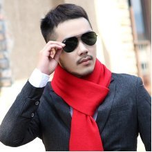 Men's Solid Knitting Scarves