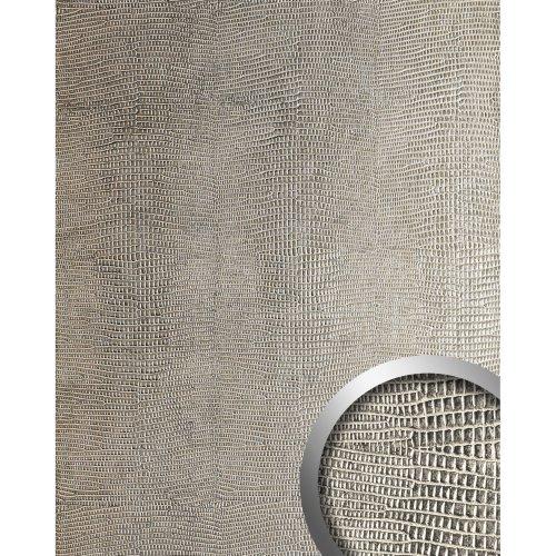 WallFace 19781 Antigrav LEGUAN Silver Design panelling leather look matt silver