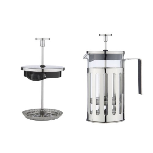 French Press Coffee/Tea Maker Cafetiere with Stainless Steel Frame Handle and Lid, 3 Cup/350ml