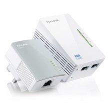 TP-LINK (TL-WPA4220KIT) 300Mbps AV600 Wireless N Powerline Adapter Kit