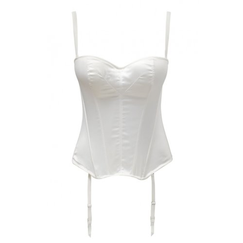 Panache 5437 Masquarade Tiffany Underwired Strapless Multiway Basque Ivory Off-White 28FF