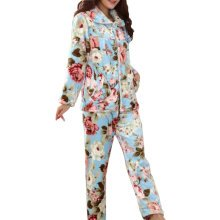 Casual Pajama Set Warm Sleepwear Home Apparel Flannel Pajamas X-large-A2