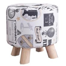 Creative Wood Linen for Shoe Stool Household Stool Round stool Children Adults Apply # 4