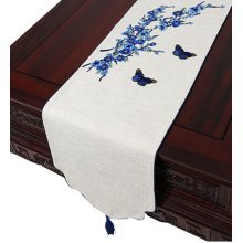 Cloth Linen Coffee Table Cloth Table Runner Drape Modern Chinese Table