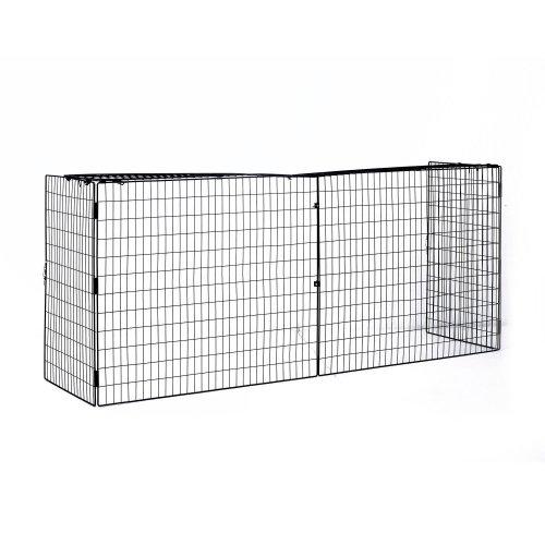 Homcom Extendable Fireguard Screen Folding Fireplace Wire Mesh Cover