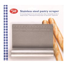 Tala Stainless Steel Pastry Scraper | Dough Cutting Tool With Measure