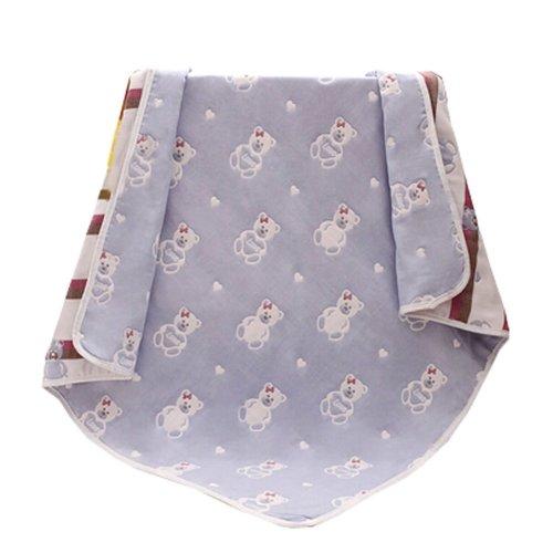 "Baby/Kids Cotton Bath Rug Breathable Bath Towel Summer Cover Blanket 43.3""x43.3""(Bear)"