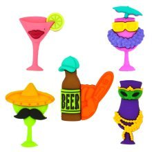 Cheers! - Novelty Craft Buttons / Embellishments by Dress It Up