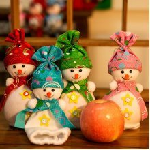 Christmas Snowman Apple Bag