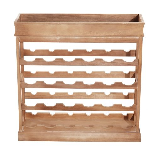 Homcom 4-tier Wooden Wine Rack Board 24 Bottles