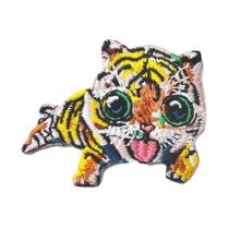 2 Pcs Embroidery Applique-Iron on Appliques Animal Patch Applique Patches Tiger