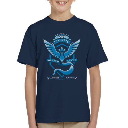 Pokemon Go Team Mystic Crest Kid's T-Shirt